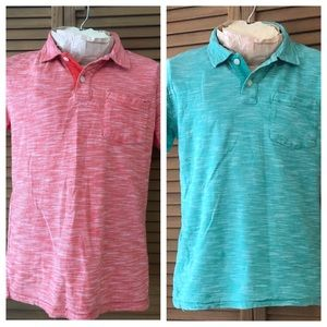 Two Old Navy Cotton Polo Shirts Boys 10-12